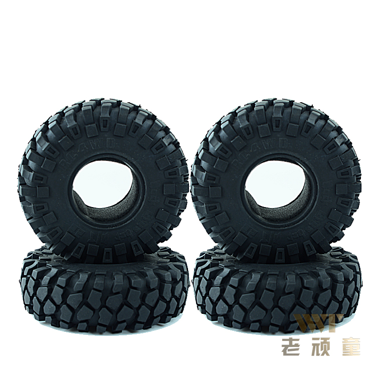 4PCS 1:10 climbing car 2.2 inch simulation tire skin AXIAL phantom 90018 SCX10 AX10 general-purpose for RC Car with spongy liner