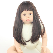Large Size Clothing Model Girls 28 Inches 70 cm Straight Hair Lifelike Silicone Reborn Baby Dolls Cheap Reborn Baby Dolls