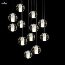 Meteoro creativo araña bola de cristal llevó la Luz de techo moderna sala de estar minimalista comedor araña 14 Luces