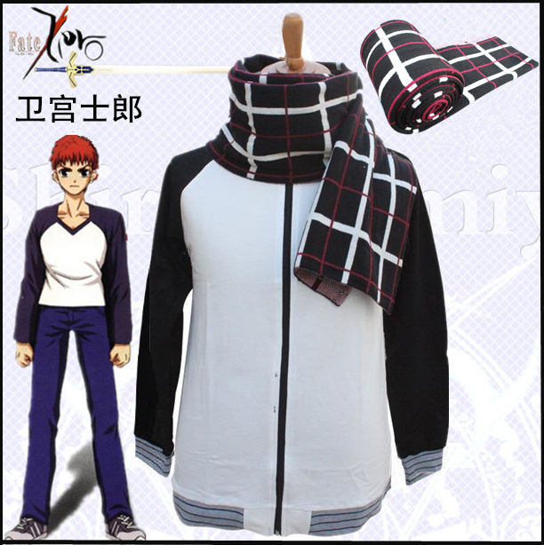 Anime Fate Stay Night Shirou Emiya Cosplay Costume Archer Jacket Sportswear And  Scarf Daily Casual Costumes