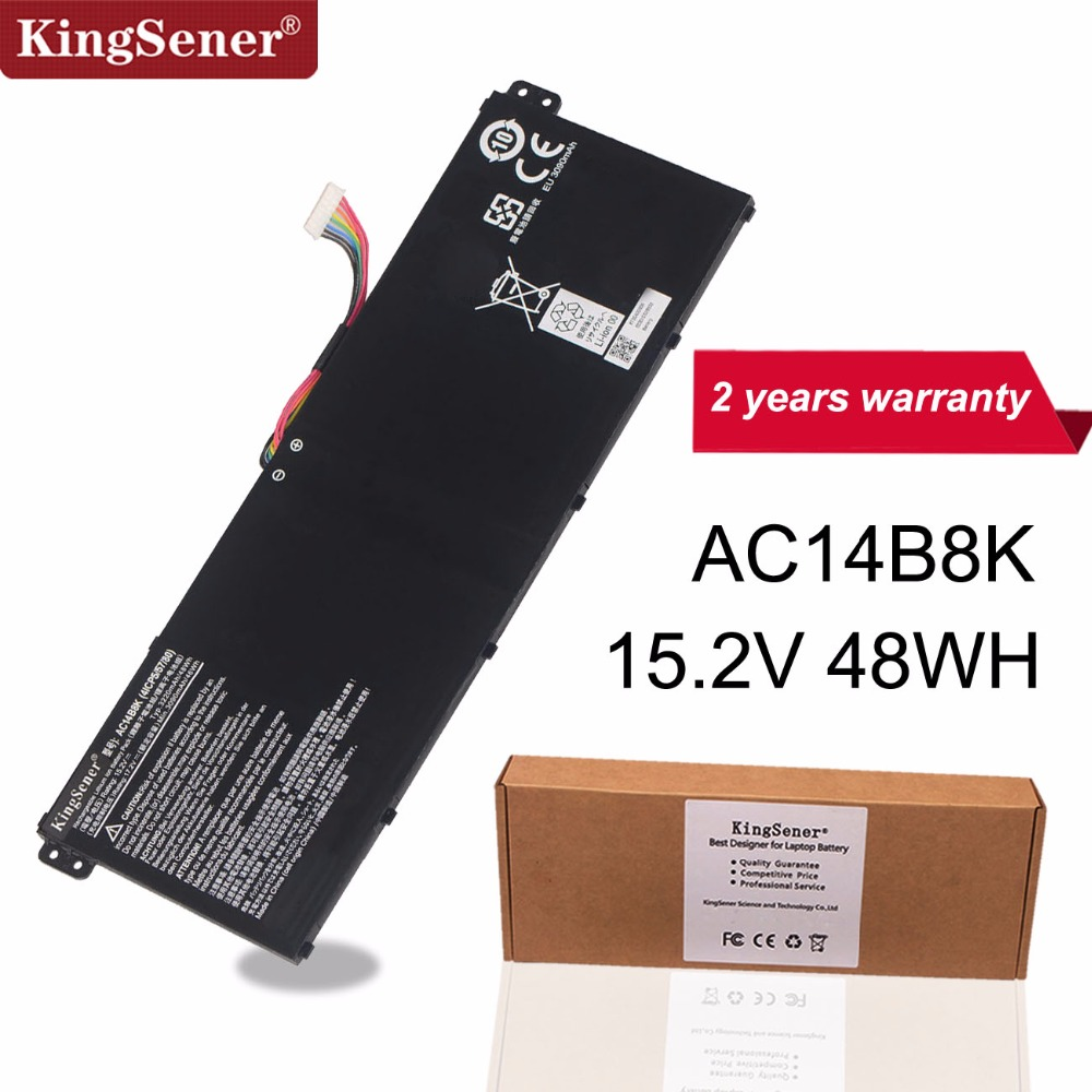 KingSener AC14B8K Battery For Acer Aspire E3-111 E3-112 CB3-111 CB5-311 ES1-511 ES1-512 E5-771G V3-111 V3-371 ES1-711 15.2V 48WH