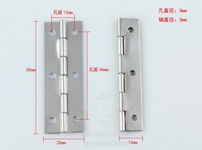 6PCS Silver 20x59mm Cabinet Hinges Box Gemel Door /& Furniture Fittings Box Hinges metal Hinges Finish Supplies HY057
