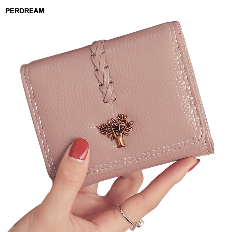 2018 leather wallets women's small wallets new short leather braided women's wallets wallets