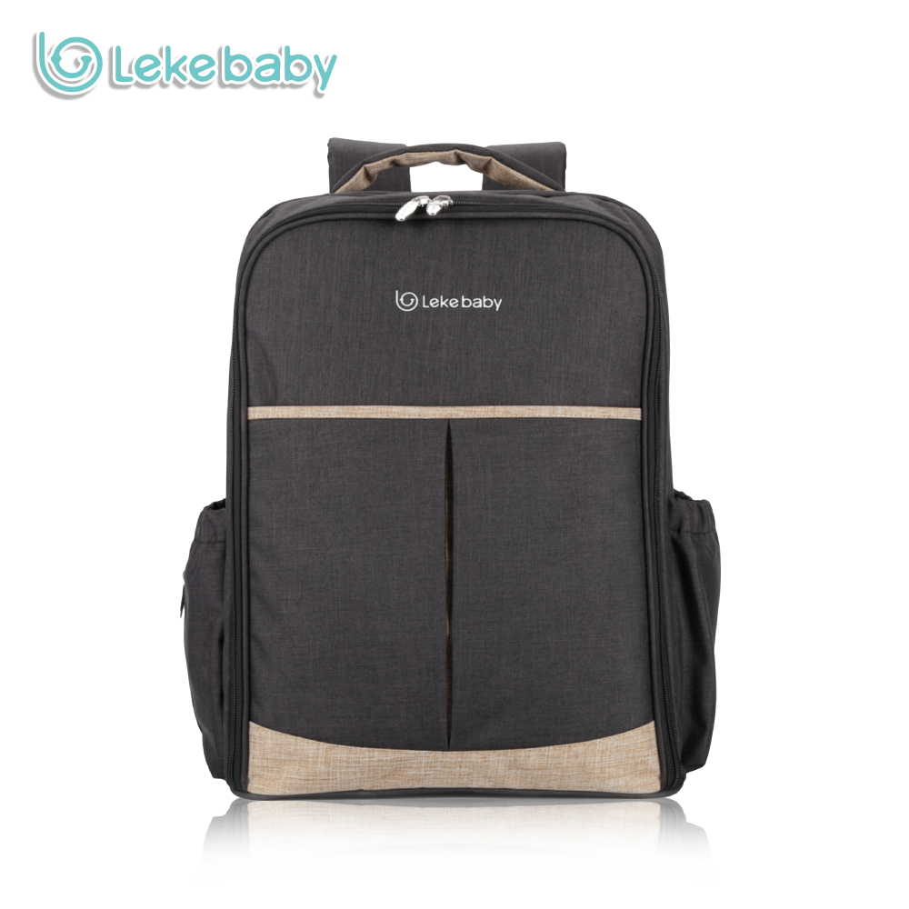 Lekebaby Fashion Mummy Maternity Nappy Bag Large Capacity Baby Changing Bag Double-layer Travel Diaper Backpack for Baby Care fashion cute panda baby mummy diaper nappy bags keep fresh lunch breast milk bag thermal portable travel picnic hobos baby care