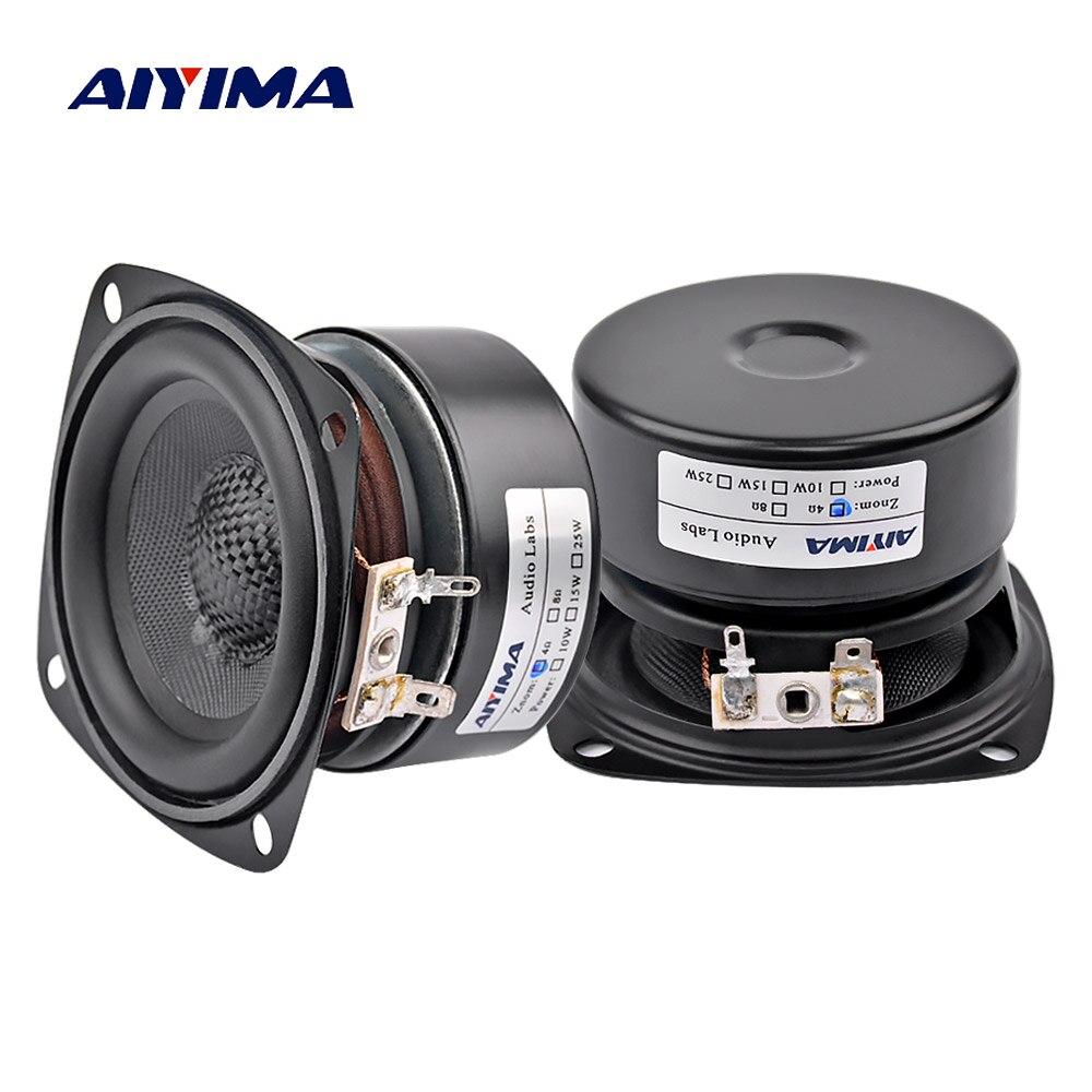 AIYIMA 2 Pcs 3 Zoll Audio Tragbare Lautsprecher Altavoz Portatil 4 8 Ohm 20 W Vollständige Palette Hifi Musik Lautsprecher DIY Für Home Theater