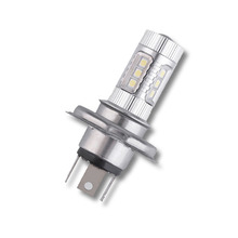 цена на 80W White 6000K H4 9003 HB2 16-LED 12V-24V Hi/Lo Beam Headlight DRL Fog Lamp Driving Light Bulb for Motorcycle