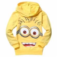 New 2017 hot sale fashion cartoon long sleeve hooded cotton kids baby girls boys children hoodies sweatshirts sweaters