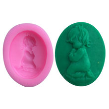 TTLIFE 3D Girl Cake Silicone Mold Baby Party Fondant Cake Decorating Tools Pirate Doll Soap Chocolate Candy Fimo Clay Moulds(China)