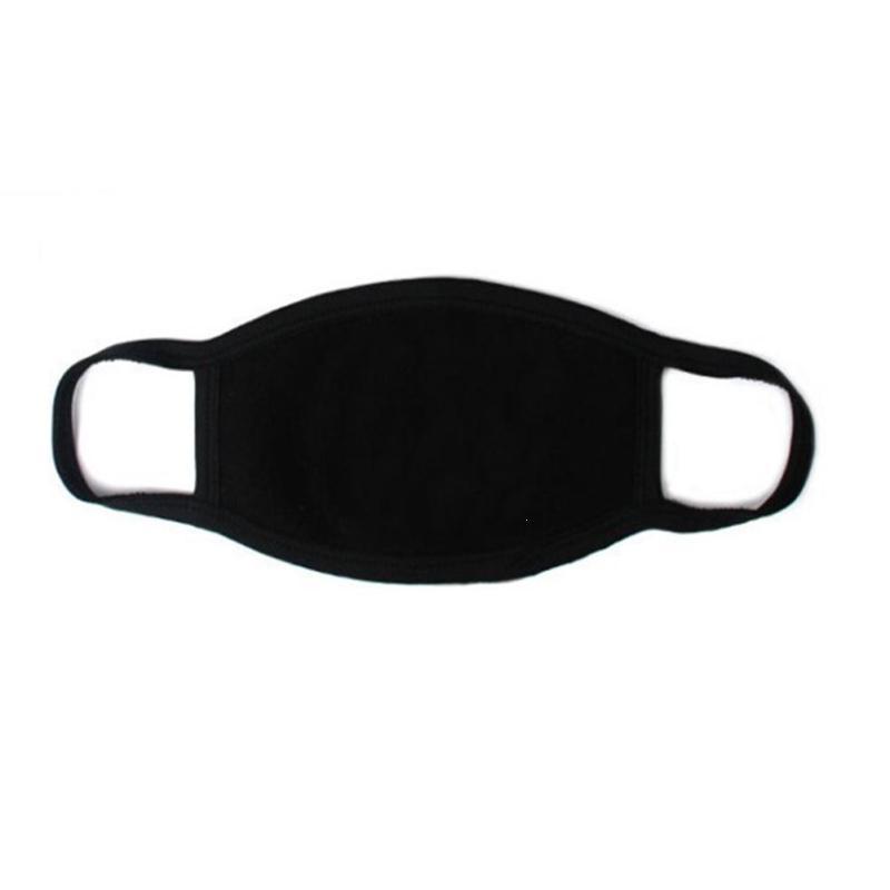 1PC Unisex Black Mask Soft Cotton Winter Breathing Mask Anti-Dust Earloop Mouth Face Cover Outdoor Riding L4 summer dust proof sunscreen neck mask female outdoor riding mask