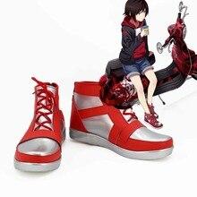 RWBY motocicleta estilo Ruby Rose rojo Cosplay zapatos botas Cosplay amor  para la fiesta de Navidad de Halloween 7cb0d97be9b1
