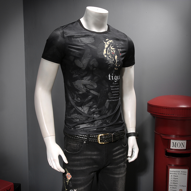 The new summer 2019 The comfortable tencel ICONS Hollow out breathable Printing short sleeve T shirt men C9012 P45-in T-Shirts from Men's Clothing on Aliexpress.com | Alibaba Group 14