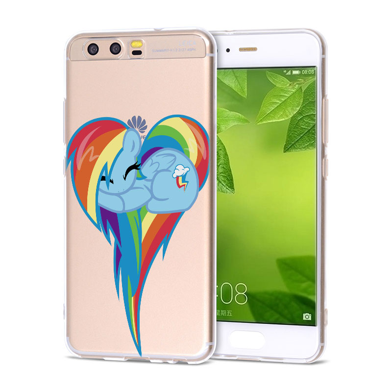 Soft Silicone Phone Case cute My Little Pony Rainbow Dash TPU Silicone Phone Case for Huawei P20 P20Lite P10 P8 P9 Lite 2017 P S