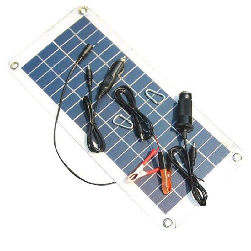 Panneau solaire Semi-flexible 18 V 5 V 10.5 W Portable chargeur de panneau solaire pour 12 V voiture bateau moteur batterie chargeur bricolage système solaire nouveau