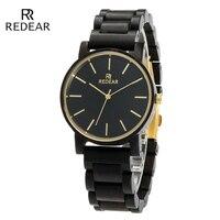 Genuine Brand Black Wooden Watch Men Ebony Waterproof Quartz Watches Wood High Quality Simple Men S