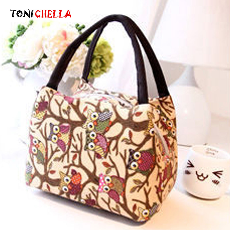 Baby Insulation Bag Owl Pattern Feeding Milk Bottle Thermal Bags Mummy Travel Portable F ...