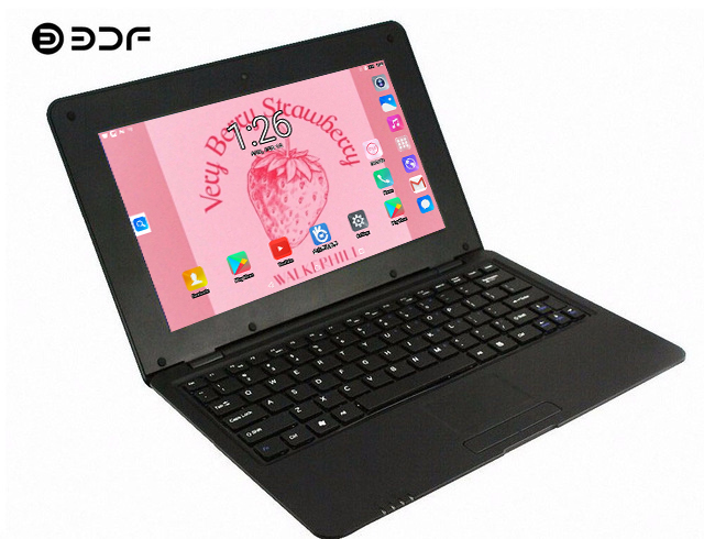BDF 2019 New 10.1 Inch Notebook Laptop Inch Quad Core Android 6.0 7029 1.5GHZ WiFi Bluetooth Mini Notebook Laptop Tablet 10.1