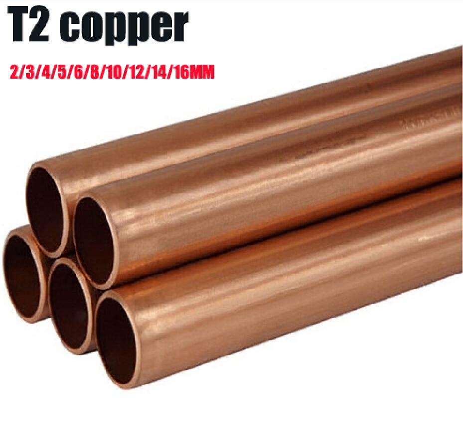 364 1 Mètre De Longueur Rouge Cuivre Tubes 23456810121416 Mm Diamètre Tube En Laiton Entretoise Modèle Bâtiment Bricolage Jouets