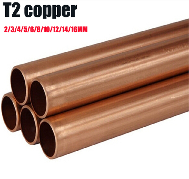 1 meter length red copper Tubes 2/3/4/5/6/8/10/12/14/16MM Diameter Tube Brass Spacer Model Building diy toys accessories