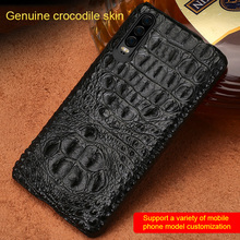 100% Real Crocodile Leather Phone case For Huawei p30 Back Covers for Huawei p30 pro Luxury marvel Cases for P20 Pro P30 Lite