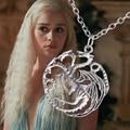 Juego de tronos collar del dragón canción de hielo y fuego vintage Targaryen colgante para hombre y mujeres venta al por mayor