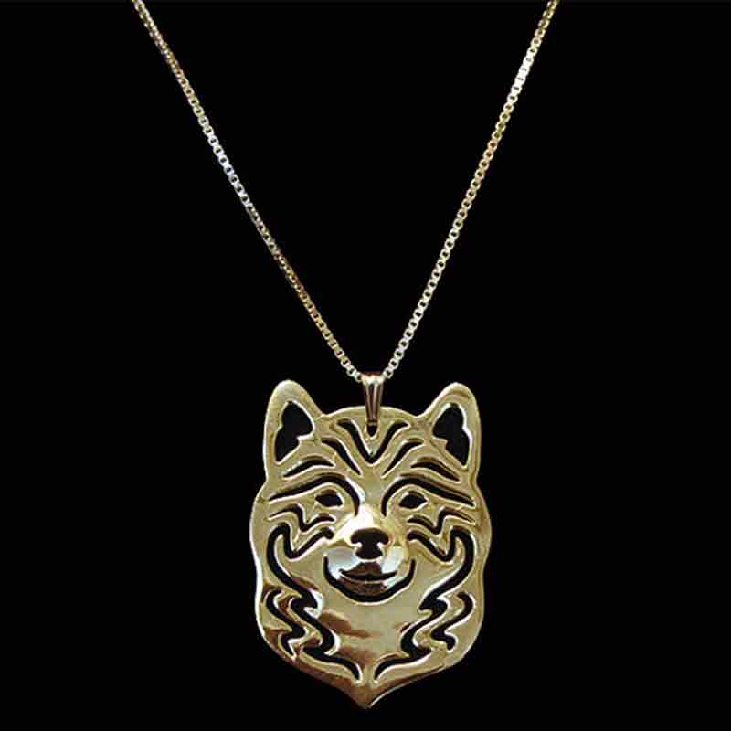 Dog Necklace Gold-color Pendant Charm For Pet Lovers Women Special Version Animal Jewelry & Cloth Accessories 2017