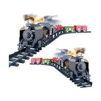 Daha iyi Thomass Tren Klasik oyuncaklar Enlighten Tren Pil Işletilen sound & Smok Demiryolu Demiryolu Araç Elektrikli Tren Set araba
