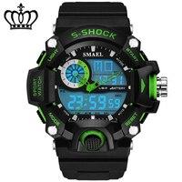 2018 Fashion 50m Waterproof Led Sports ElectronicWatches Men Luxury Brand Watch S Shock Silicone Digital Wristwatch Saat 73 G