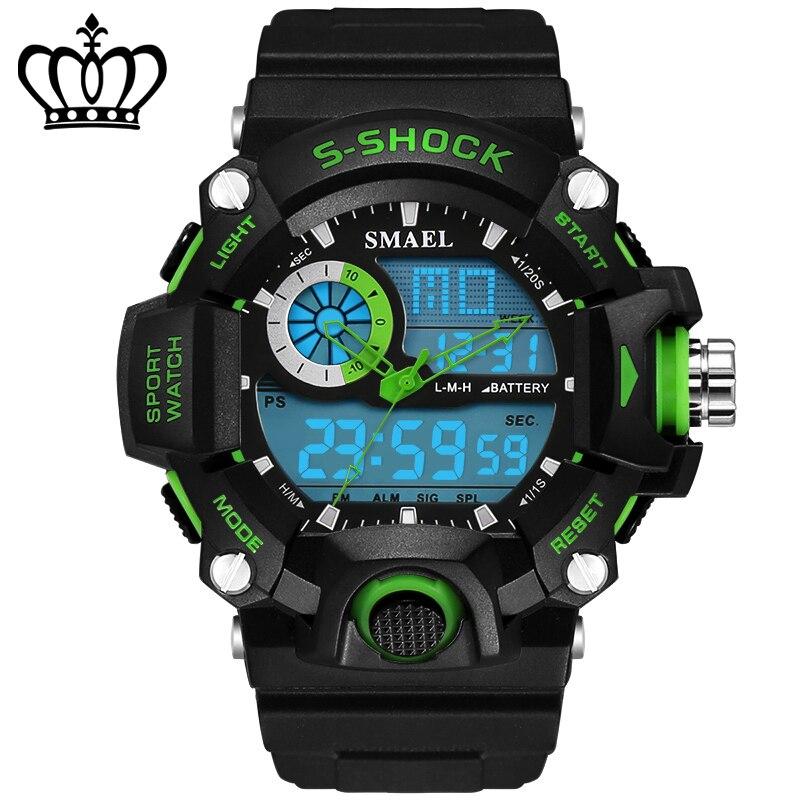 2018 mode 50 m LED étanche sport électronique montres hommes marque de luxe montre S choc Silicone montre-bracelet numérique Saat 73G