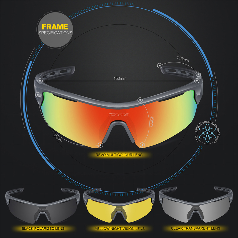 ab3ce1a9e0 Άνδρες   s γυαλιά 2018 Polarized Sports Sunglasses With 4 Lenes for Men  Women Polarized Fashion Eyewear 100% UV400 Reduce Glare Running Glasses