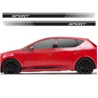 YongXun For Seat Racing Stripes Graphics Stickers Decals Leon Ibiza Cupra FR Sport DA Er2