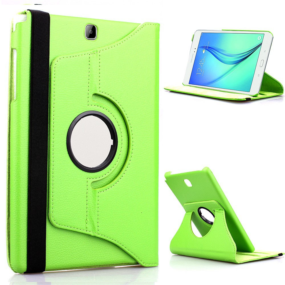 360 Degree Rotating PU Leather Flip <font><b>Case</b></font> <font><b>Cover</b></font> For <font><b>Samsung</b></font> <font><b>Galaxy</b></font> <font><b>Tab</b></font> A 9.7 <font><b>SM</b></font>-<font><b>T550</b></font> <font><b>T550</b></font> T551 <font><b>SM</b></font>-T555 TabA 9.7 Tablet <font><b>Case</b></font> Glass image