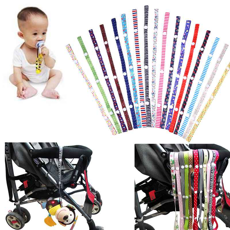 Baby Stroller Teether Pacifier Bottle Anti-lost Chain Strap Holder Belt Colorful High Chair Toys Fixed Bind Belt Kids Toys Leash