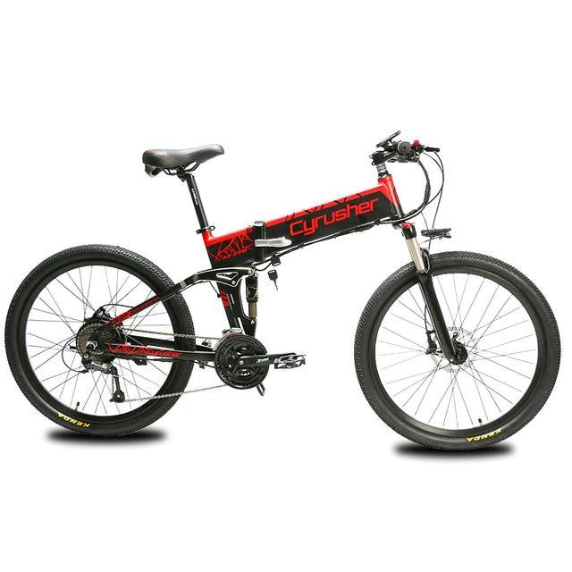 Cyrusher XF770 складной электрический велосипед 48 в 500 Вт полная подвеска дорожный Электрический велосипед тормоз с системой отключения питания e-bike