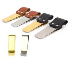 1.5 / 2cm wide silver gold brass pen clip, notebook pen holder, stainless steel clips