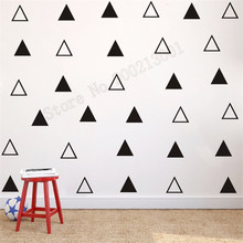 Room Decoration Modern Ornament Triangles Vinyl Removeable Poster Beauty Small Pattern Decal Fashion Wall Sticker LY529