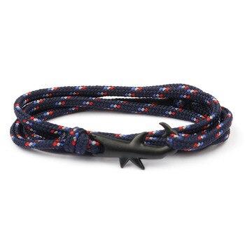 18 Colors Optional Hot Selling Viking Bracelets For Men And Women Silver Shark Multilayer Rope Bracelet Homme Femme Men Jewelry 5