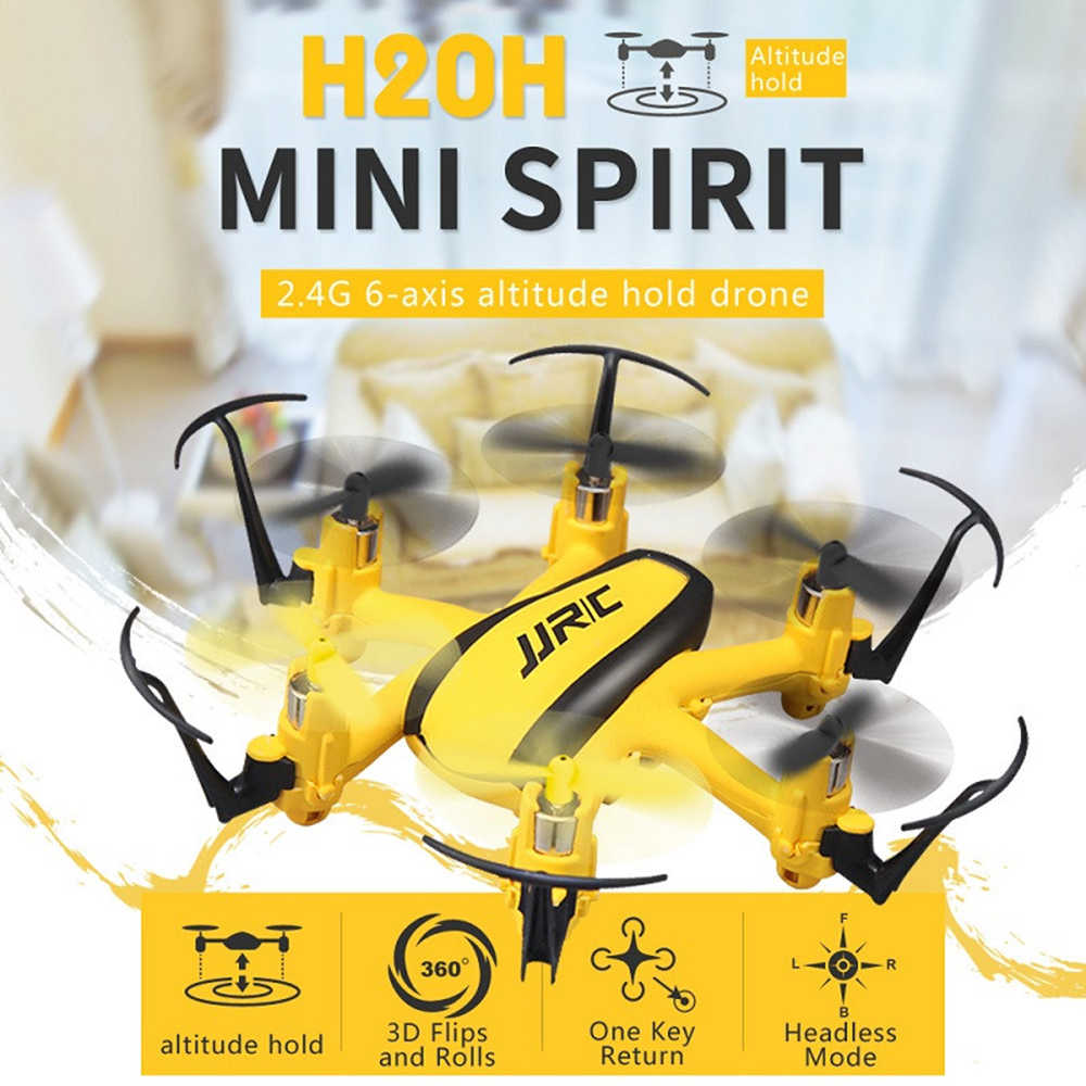 JJRC Mini Drone RC Helicopter 4CH 6-Axis Speed 3D Flip Headless Mode One Key Return Quadcopter RC Toy For Kid  Gift H20