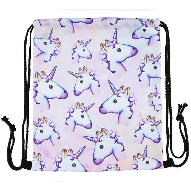 2016 New Unicorn 3D print Backpacking
