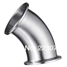 New arrival  Stainless Steel SS304 quick install connector OD 76mm Sanitary Elbow Pipe Fitting 45 Degree 2 pcs/lot