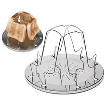 4 Slice Camping Bread Toast Tray Gas Stoves Cooker BBQ Camping Toaster Rack
