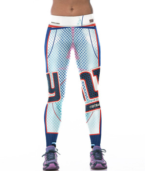 Unisex Football Team Giants Print Tight Pants Workout Gym Training Running Yoga Sport Fitness Exercise Leggings Dropshipping 1