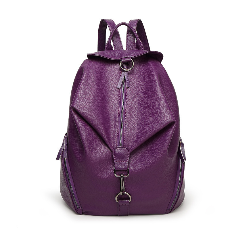 2016 fashion women s backpack high grade wash water material confident girl bag