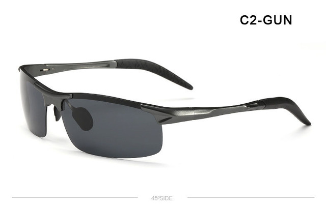 News Brand Designer Men Polarized Aluminum-magnesium Alloy Sunglasses driving Sports fishing glasses