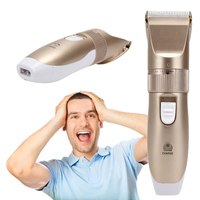 220 240V 15W Professional Hair Beard Trimmer Hair Shaver Clipper Electric Barber Shaver US Plug Hair
