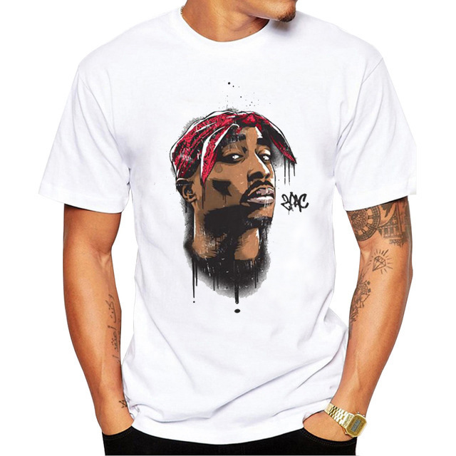 2019 Summer Mens T Shirts Top Quality Men's Short Sleeve T-Shirt American Rapper 2pac Peripheral Products S-3XL Plus Sizes G0620