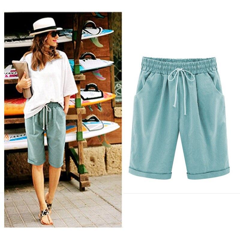 e3fa9cf7852a Women's clothing Summer Pants Leisure Travel 5 Point Pants Thin ...