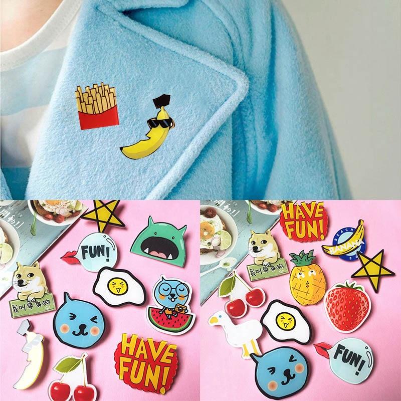Hot sale Cartoon badge Unisex Acrylic Badge Mini Brooch Anime Icons Badges colorful Cute cartoon brooch