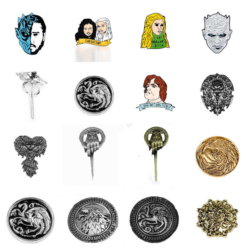 Game Of Thrones Accessori Figura Cosplay Distintivo Dello Smalto Risvolto Spille Spilla Camicia di Modo Spilla Regalo