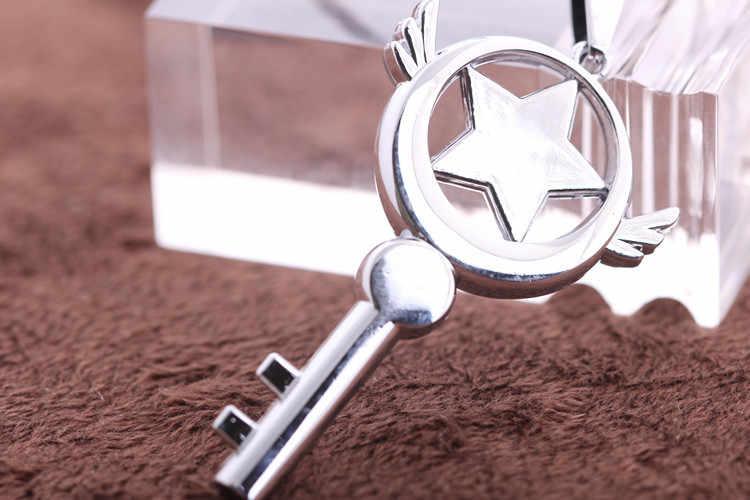 Аниме Card Captor Sakura Волшебная палочка хрустальный ключ кулон Цепочки и ожерелья Для женщин мужские ювелирные ожерелье