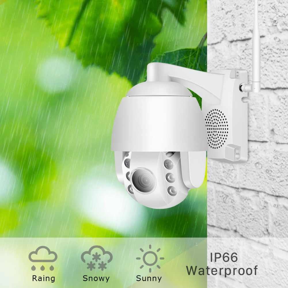 Купольная инфракрасная камера видеонаблюдения, беспроводная управляемая супер-мини камера, экран 2,5 дюйма, PTZ, поддержка WiFi, IP-пульт, 1080 пикселей, зум х 5/объектив 4 мм, 60 м, двусторонняя аудиосвязь